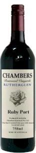 钱伯斯宝石红波特风格加强酒(Chambers Rosewood Vineyards Ruby Port,Rutherglen,Australia)