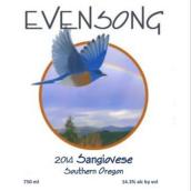 晚祷桑娇维塞红葡萄酒(Evensong Vineyards Sangiovese,Oregon,USA)
