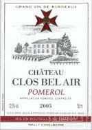 贝莱尔酒庄干红葡萄酒(Chateau Clos Bel Air,Pomerol,France)