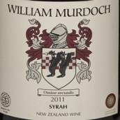 威廉默多克酒庄西拉干红葡萄酒(William Murdoch Wines Syrah,Hawkes Bay,New Zealand)