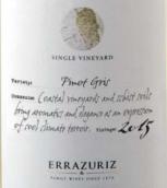 伊拉苏单一园灰皮诺干白葡萄酒(Errazuriz Single Vineyard Pinot Gris, Aconcagua Valley, Chile)