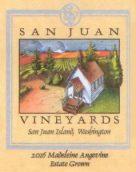 圣胡安玛德琳安吉维干白葡萄酒(San Juan Vineyards Madeleine Angevine,Puget Sound,USA)