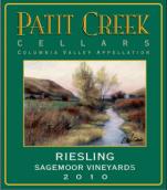 帕提雷司令白葡萄酒(Patit Creek Cellars Riesling,Columbia Valley,USA)