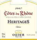 奥吉尔遗产干白葡萄酒(Ogier Heritages Blanc,Cotes du Rhone,France)