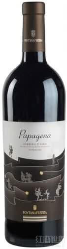 方达娜福达超级芭芭吉娜巴贝拉干红葡萄酒(Fontanafredda Superiore Papagena Barbera d'Alba,Piedmont,...)
