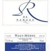 雷马士酒庄R雨露桃红葡萄酒(上梅多克)(Chateau Ramage La Batisse 'R de Ramage',Haut-Medoc,France)
