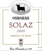 奥斯本苏丽泽丹魄-赤霞珠混酿干红葡萄酒(Osborne Solaz Tempranillo-Cabernet Sauvignon Vino de la ...)