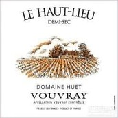 予厄酒庄高地园白葡萄酒(半干型)(Domaine Huet Le Haut-Lieu Demi-sec, Vouvray, France)