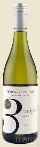 麦恒利玛珊-霞多丽-瑚珊混酿干白葡萄酒(McHenry Hohnen Amigos Marsanne-Chardonnay-Rousanne,Margaret ...)