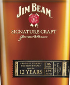 占边标志性精酿12年肯塔基纯波本威士忌(Jim Beam Signature Craft 12 Years Kentucky Straight Bourbon Whiskey, Kentucky, USA)