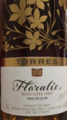 托雷斯海利斯莫斯卡托烈性葡萄酒(Torres Haialis Moscatel Oro Vino de Licor,Spain)