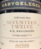 拿拜格列庚酒庄1712系列红葡萄酒(Nabygelegen Seventeen Twelve,Wellington,South Africa)