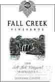 落溪舔庄园添普兰尼洛干红葡萄酒(Fall Creek Vineyards Salt Lick Vineyard Tempranillo, Texas Hill Country, USA)