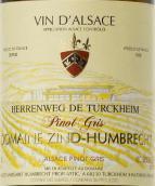 鸿布列什酒庄图克汗-埃连维园灰皮诺干白葡萄酒(Domaine Zind-Humbrecht Herrenweg de Turckheim Pinot Gris, Alsace, France)