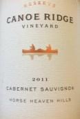 轻舟岭珍藏赤霞珠干红葡萄酒(Canoe Ridge Vineyard Estate Grown Reserve Cabernet Sauvignon, Horse Heaven Hills, USA)