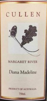 库伦黛安娜玛德琳干红葡萄酒(Cullen Diana Madeline,Margaret River,Australia)