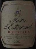 梅特爱士图尔干白葡萄酒(Maitre d'Estournel Blanc, Bordeaux, France)