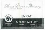 三河酒庄马尔贝克-梅洛干红葡萄酒(Three Rivers Winery Malbec-Merlot,Columbia Valley,USA)