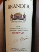 布兰德珍藏赤霞珠干红葡萄酒(Brander Vineyard Reserve Cabernet Sauvignon,Santa Ynez ...)