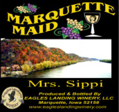 鹰陆马奎特少女西比夫人半甜型红葡萄酒(Eagles Landing Winery Marquette Maid Mrs.Sippi,Iwoa,USA)