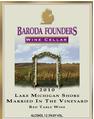 巴洛达湖密歇根海滨葡萄园中的婚礼干红葡萄酒(Baroda Lake Michigan Shore Married in the Vineyard,Michigan,...)