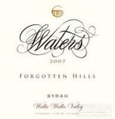 Waters Winery Forgotten Hills Vineyard Syrah,Walla Walla ...