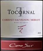 柯诺苏托科纳尔赤霞珠-梅洛干红葡萄酒(Cono Sur Tocornal Cabernet Sauvignon-Merlot,Central Valley,...)