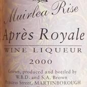 穆伊雷亚亚普莱斯利口酒(Muirlea Rise Apres Wine Liqueur,Wairarapa,New Zealand)