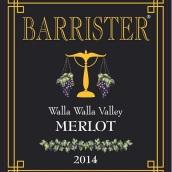 律师梅洛干红葡萄酒(Barrister Winery Merlot, Walla Walla Valley, USA)