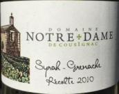 圣母酒庄歌海娜西拉混酿干红葡萄酒(Domaine Notre Dame de Cousignac Grenache Syrah, Mediterranee, France)