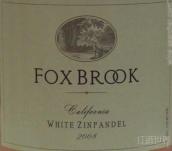 佛克斯布鲁克白仙粉黛干白葡萄酒(Fox Brook Winery White Zinfandel, California, USA)