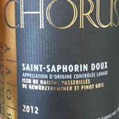 合声酒庄圣萨风宁甜白葡萄酒(Chorus Saint-Saphorin Doux,Napa Valley,USA)