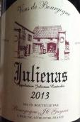 盖克斯酒庄(朱丽娜村)干红葡萄酒(Bourgogne JC Guyaux Julienas,Beaujolais,France)