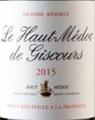 美人鱼城堡上梅多克红葡萄酒(Le Haut Medoc de Giscours, Haut-Medoc, France)