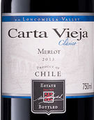卡塔维嘉酒庄梅洛干红葡萄酒(Carta Vieja Merlot, Loncomilla Valley, Chile)