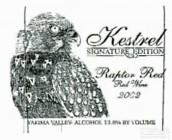 Kestrel Vintners 'Signature Edition' Raptor Red,Yakima ...
