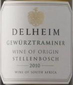 徳翰姆琼瑶浆甜白葡萄酒(Delheim Gewurztraminer,Stellenbosch,South Africa)
