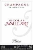 尼古劳斯马亚尔铂金极干香槟(Nicolas Maillart Platine Brut, Champagne Premier Cru, France)