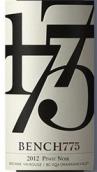 1775台黑皮诺干红葡萄酒(Bench 1775 Winery Pinot Noir, British Columbia, Canada)