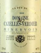 卡泽雷维迪尔酒庄干红葡萄酒(Domaine de Cazelles-Verdier, Minervois, France)