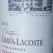 格拉瓦拉古斯酒庄特酿红葡萄酒(Chateau Grava Lacoste Cuvee Cazenave Graves,Graves,France)