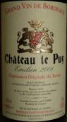 勒庞酒庄埃米利安特酿干红葡萄酒(Chateau le Puy Cuvee Emilien,Cotes de Francs,France)