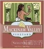 麦基诺尼克桃红葡萄酒(Mackinaw Valley Vineyard Nicole's Blush,Illinois,USA)
