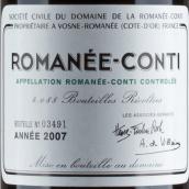 罗曼尼·康帝酒庄干红葡萄酒(Domaine de la Romanee-Conti,Vosne-Romanee,France)