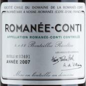 罗曼尼·康帝(罗曼尼·康帝特级园)干红葡萄酒(Domaine de la Romanee-Conti Romanee-Conti Grand Cru,Cote de ...)