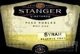 Stanger Vineyards Reserve Syrah,Paso Robles,USA