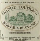 都帝雅克干白葡萄酒(Chateau Toutigeac Blanc Sec, Bordeaux, France)