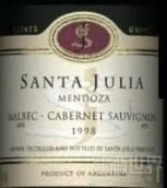 朱卡迪园桑塔茱莉亚马尔贝克赤霞珠干红葡萄酒(Familia Zuccardi Santa Julia Malbec - Cabernet Sauvignon, Mendoza, Argentina)