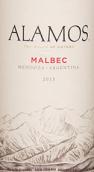 阿拉莫斯马尔贝克红葡萄酒(Alamos Winery Malbec,Mendoza,Argentina)