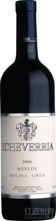埃切维里亚经典梅洛干红葡萄酒(Echeverria Classic Merlot, Curico Valley, Chile)